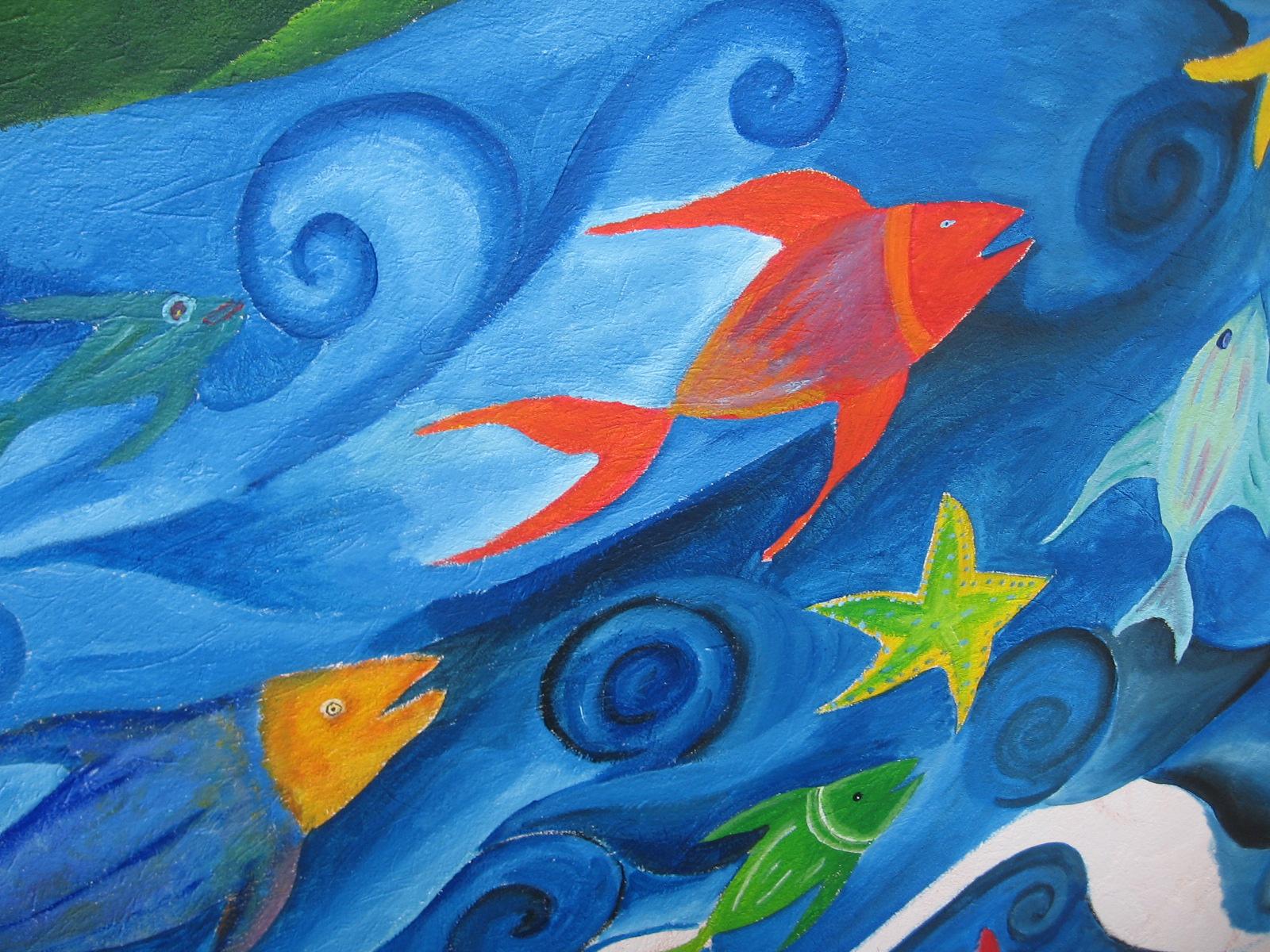 Foto - Mural de peces