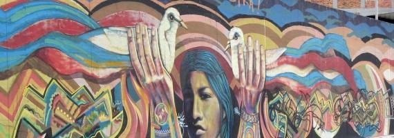 Cabecera - La paz es nuestra, calle 26, mural